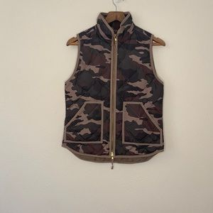 J.Crew camo quilted puffer vest